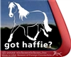 Haflinger Horse Car Truck RV iPad Laptop Window Decal