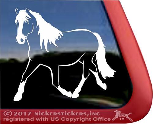 Custom haflinger horse trailer car truck rv window decal sticker larger photo email a friend