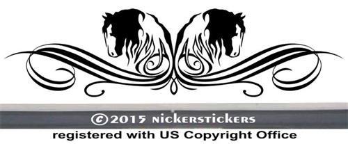 Custom Gypsy Horse Decals & Stickers   NickerStickers