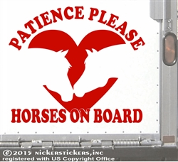 Love Horses Horse Trailer Car Truck RV Window Decal Sticker