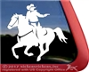 Mounted Cowboy Shooting Horse Trailer Window Decal
