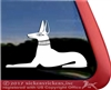 Anubis Egyptian Dog Pharaoh Hound Window Decal