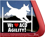 Australian Cattle Dog ACD Heeler Agility Dog Car Truck RV Window Decal Sticker