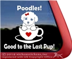 Teacup Poodle Puppy Dog iPad Car Truck Window Decal Sticker