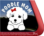 Poodle Mom Puppy Dog iPad Car Truck Window Decal Sticker