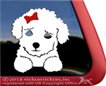 Custom Poodle Puppy iPad Car Truck Window Decal Sticker
