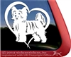 Chinese Crested Powderpuff Window Decal