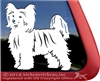Custom Chinese Crested Dog Car Truck RV Window Decal Sticker