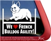 French Bulldog Agility Dog Vinyl Car Truck RV iPad Window Decal Sticker