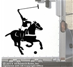 Polo Pony  Horse Trailer Window Decal