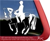 Custom Dressage Equestrian Paint Horse Trailer Window Decal Sticker