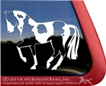 Dressage Paint Horse Trailer Window Decal