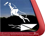 Custom Australian Shepherd Dock Diving Dog Car Truck RV Window Decal