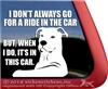 Pit Bull Adoption Car Truck RV Vinyl Window Decal Sticker