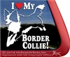 Jumping Dog Border Collie Dog Car Truck RV Window Decal Sticker