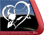 Custom Jumping Border Collie Dog Car Truck RV Window Decal