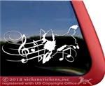 Custom Freestyle Dancing Border Collie Dog Car Truck RV Window Decal