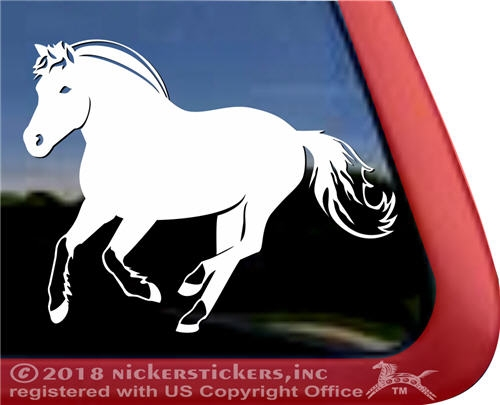 Custom Norwegian Fjord Horse Trailer Window Decal