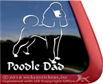 Poodle Dad Dog iPad Car Truck Window Decal Sticker