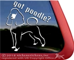 Got Poodle? Dog iPad Car Truck Window Decal Sticker