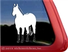 Custom Dun Quarter Horse Trailer Window Decal