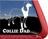 Smooth Collie Dog Car Truck RV Window iPad Laptop Decal Sticker