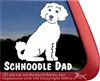 Schnoodle  Dog Window Decal