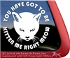 Kitty Cat Face Car Truck RV iPad Tablet Laptop Window Decal Sticker