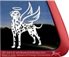 Custom Dalmatian Angel Memorial Dog Car Truck RV Window iPad Tablet Laptop Decal Sticker