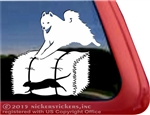 Samoyed Barn Hunt Rat Dog Window Decal Sticker