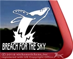 Humpback Whale Car Truck RV Trailer Window Laptop iPad Tablet Decal Sticker