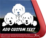 Three Goldendoodles Labradoodles Dog Vinyl Window Car Truck RV Trailer Decal Sticker