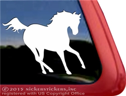 Galloping Horse Trailer Car Truck RV Window Decal Sticker
