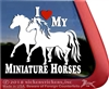 Miniature Horses Window Decal