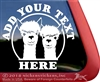 Custom Alpaca Car Truck RV Window Decal Sticker