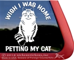 Siberian Cat Tabby Kitty Cat iPad Car Truck Window Decal Sticker