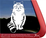 Custom Siberian Tabby Cat Window Decal