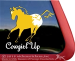 Cowgirl Up Buckskin Appaloosa Window Decal