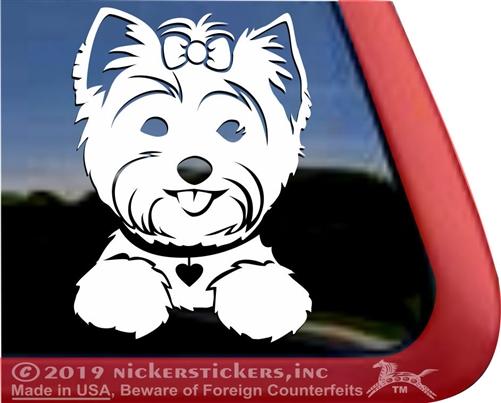 Yorkie Puppie Dog Yorkshire Terrier Vinyl Sticker Decal Car Laptop Window Wall