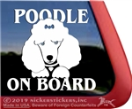 Poodle Face iPad Car Truck Window Decal Sticker