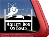 Tri Color Pembroke Corgi Agility Dog Car Truck RV Window Decal
