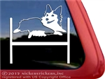 Tri color Pembroke Corgi Agility Dog Window Car Truck RV Decal