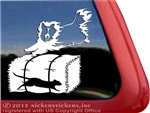 Sheltie Barn Hunt Shetland Sheepdog Dog Car Truck RV Window Decal Sticker