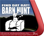 Yorkshire Terrier Barn Hunt Dog Window Decal