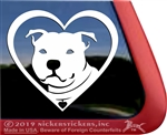 Staffordshire Terrier Pit Bull Heart Car Truck RV Window Decal Sticker