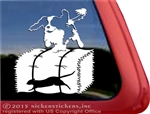 Cavalier King Charles Spaniel Barn Hunt Window Decal