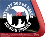 Russian Terrier Window Decal