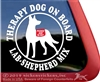 Lab Shepherd Mix Window Decal