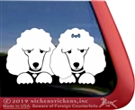 Custom Poodle Pair iPad Car Truck Window Decal Sticker