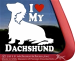 Dachshund Window Decal